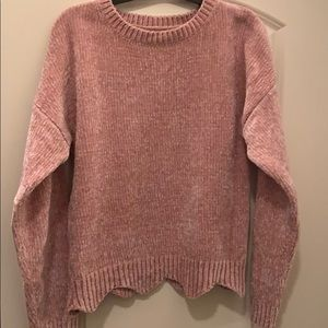 Love Tree Chenille Sweater